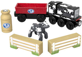 Fisher-Price Thomas & Friends Wood Diesel's Dairy Drop-Off