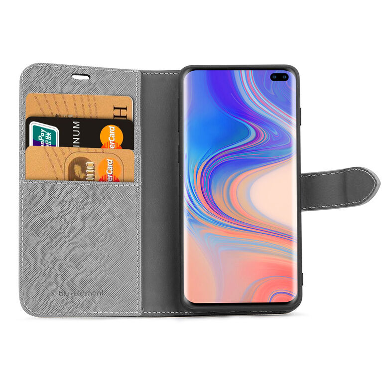 Blu Element 2 in 1 Folio Galaxy S10 Black/Gray