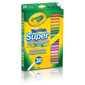Crayola - Washable Super Tips Fine Line Markers 20-Pack