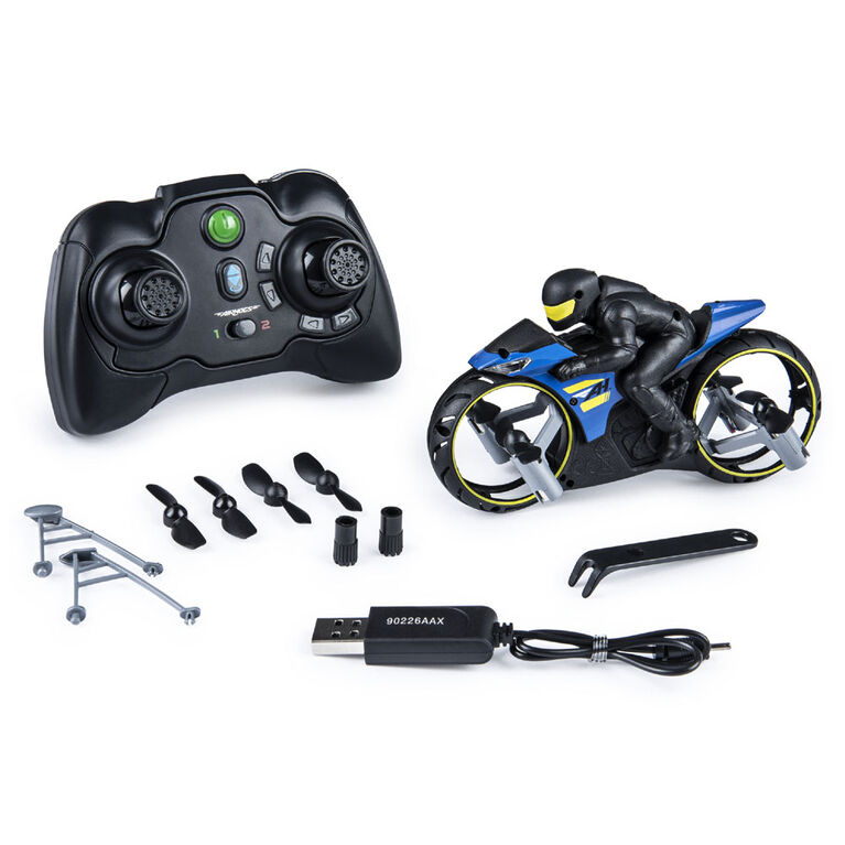 Air Hogs, Flight Rider, 2-in-1 Remote Control Stunt Motorcycle for Ground and Air