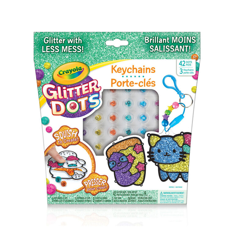 Crayola Glitter Dots Keychain Sparkle Friends Kit