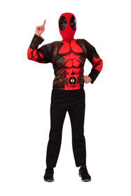Deadpool Costme Top & Deluxe Mask Set