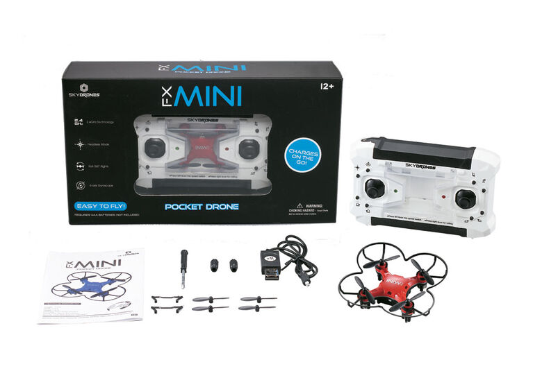 Skydrones - Fx Mini Pocket Drone (Colors May Vary)