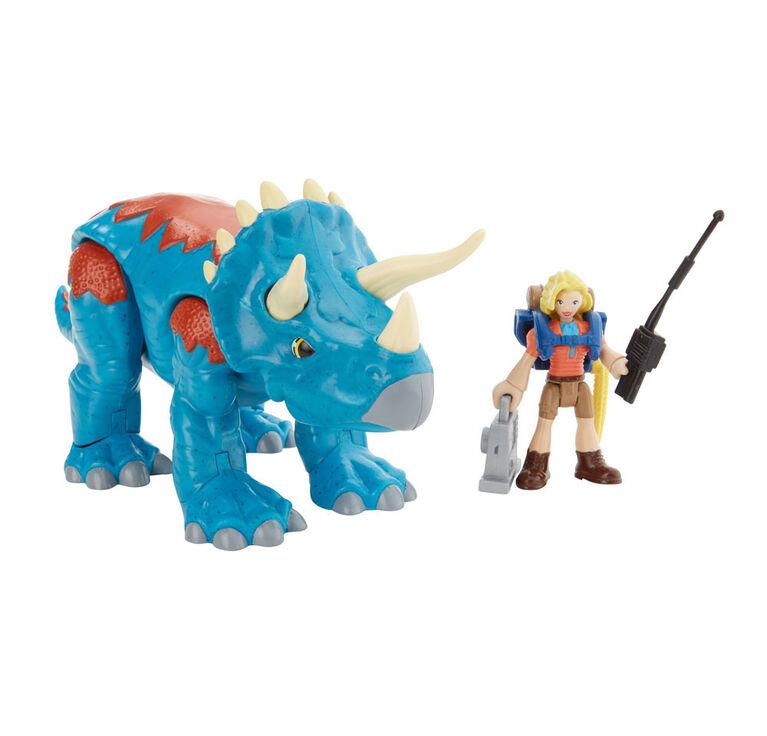 Fisher-Price Imaginext Jurassic World Dr Sattler & Triceratops - English Edition