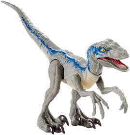 Jurassic World - Attaque Sauvage - Figurine Vélociraptor Blue.