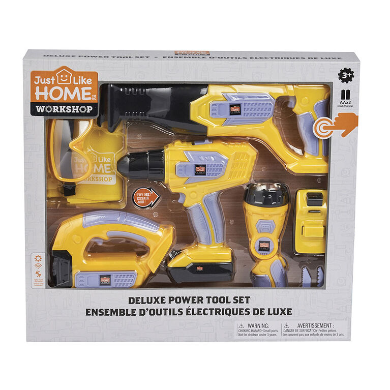Just Like Home Workshop - Deluxe Power Tool Set 10 Pieces
