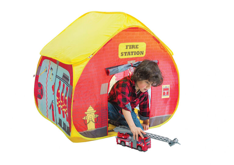 Pop-It-Up Firestation with Streetmap Playmat