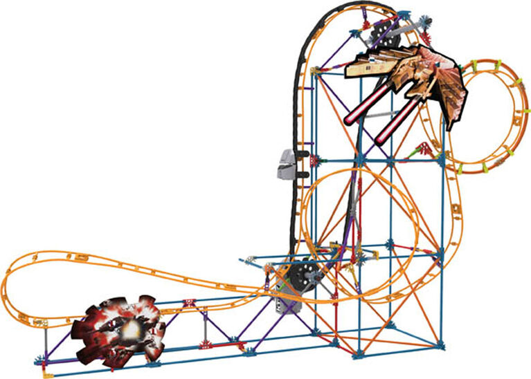 K'Nex Space Invasion Roller Coaster Building Set