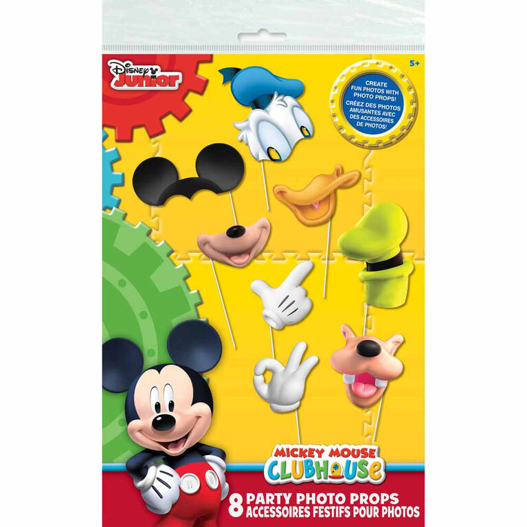 Mickey''s Clubhouse Photo Booth Props 8 pieces