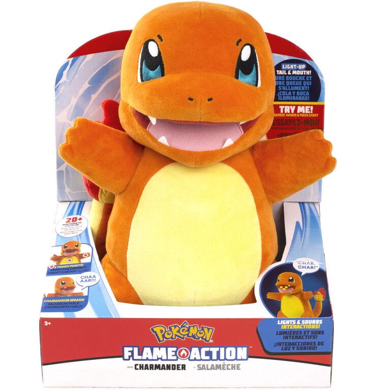 Pokémon Salamèche (Charmander) à action de flamme - Notre Exclusivité
