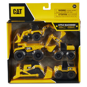 Assortiment de 5 véhicules Little Machines Cat