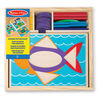Melissa & Doug Beginner Wooden Pattern Blocks Educational Toy With 5 Double-Sided Scenes and 30 Shapes - styles may vary