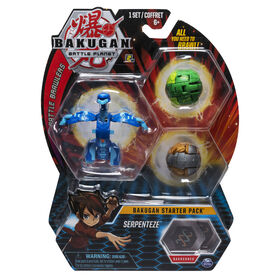 Bakugan Starter Pack 3-Pack, Serpenteze, Collectible Transforming Creatures