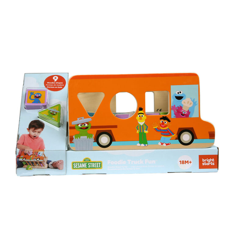 Foodie Truck Fun Wooden Shape Sorter