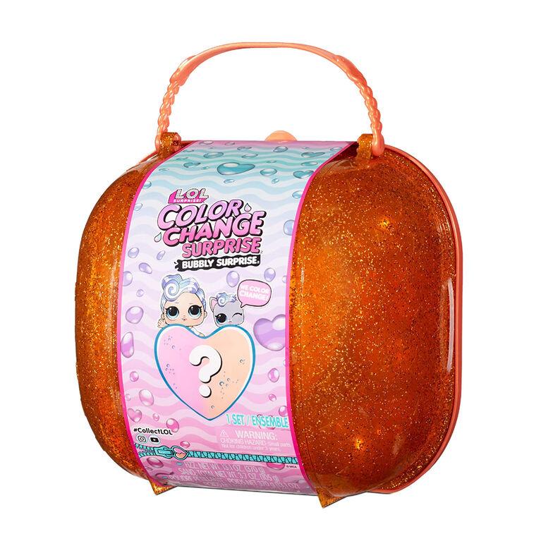 Surprise pétillante orange à couleur changeante LOL Surprise avec poupée et animal exclusifs