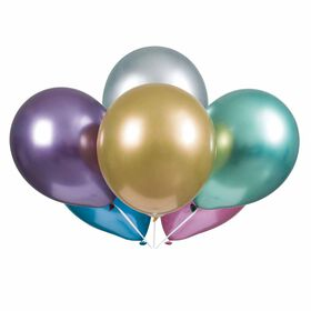 """Solid Color Platinum 11"""" Latex Balloons 6 pieces"""