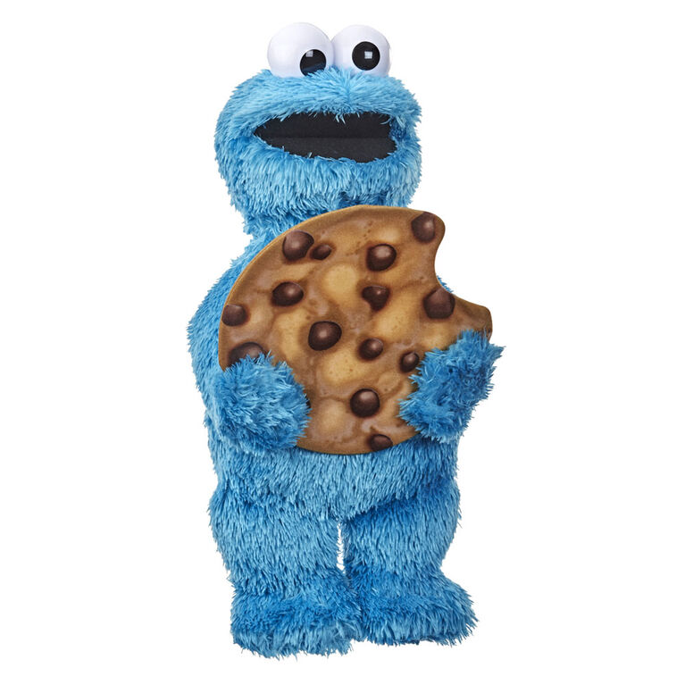 Sesame Street Peekaboo Cookie Monster Talking 13-Inch Plush Toy for Toddlers - English Edition
