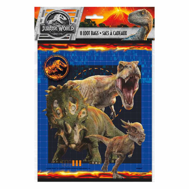 Jurassic World Loot Bags, 8 pieces