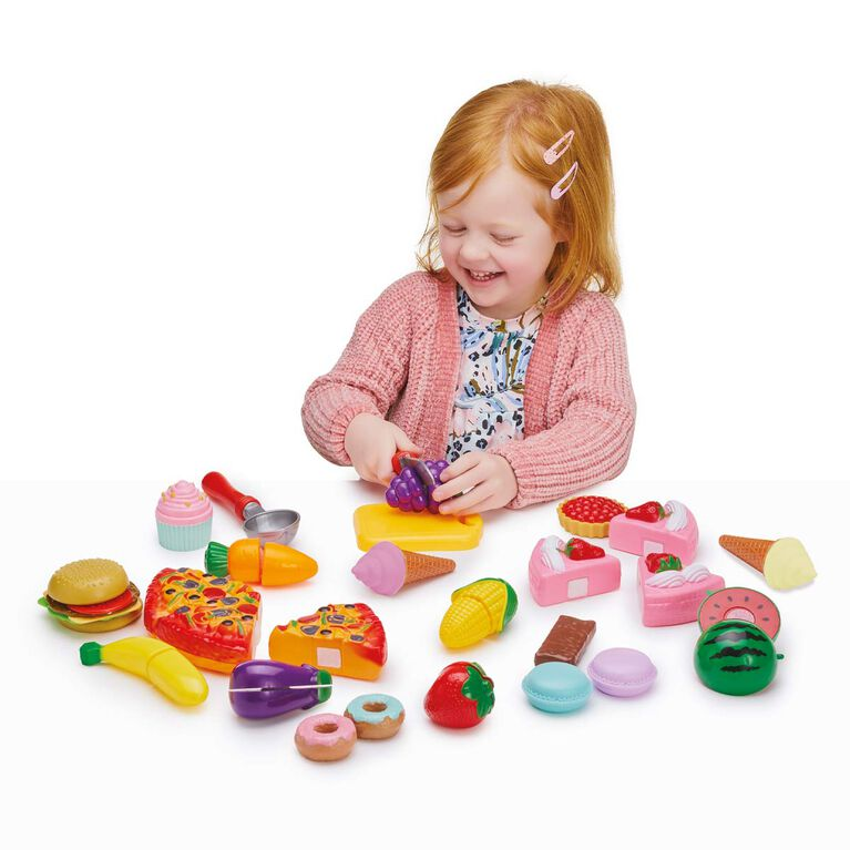 Busy Me Slice & Play Party Time Food PlaySet - R Exclusive