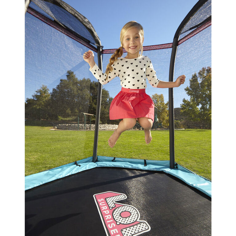 L.O.L. Surprise! 7 ft Enclosed Trampoline with Safety Net