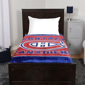 NHL Luxury Velour Blanket - Montreal Canadiens