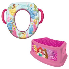 Disney Princess Potty Training Combo Set - Soft Potty & Step Stool