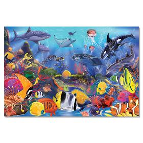 Melissa & Doug Puzzle de plancher sous-marin avec l'océan - 48 pièces, 60.96cm x 91.44cm
