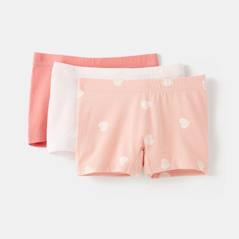 3-4 ans culotte boxeur en coton biologique - rose pâle