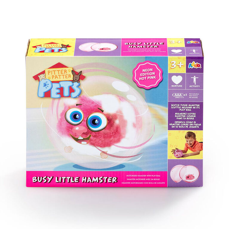Pitter Patter Pets Busy Little Hamster Neon - Pink - R Exclusive