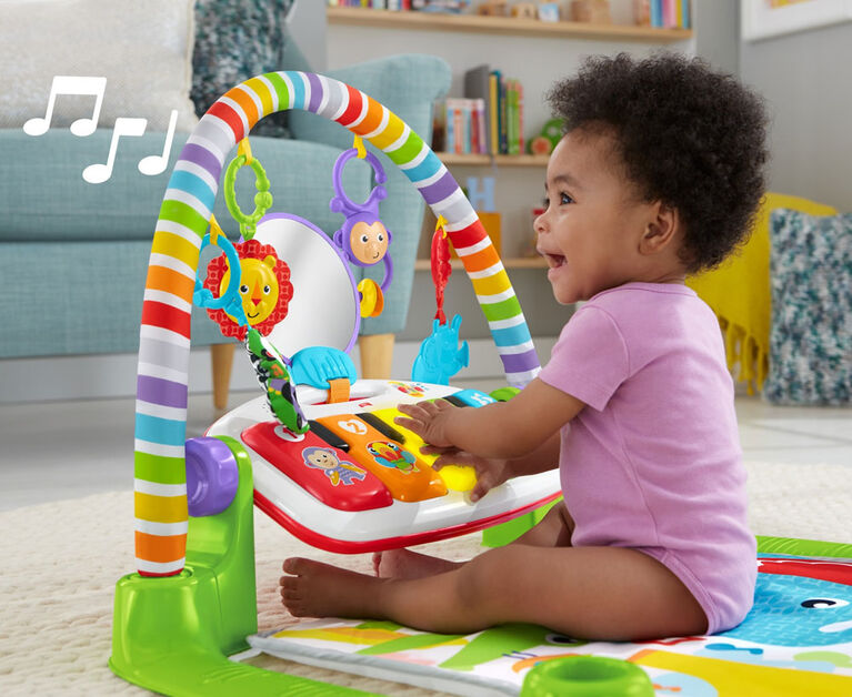 Fisher-Price Deluxe Kick & Play Piano Gym Green - English Edition
