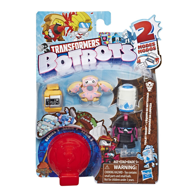 Transformers BotBots Toys Series 1 Toilet Troop 5-Pack - Mystery 2-In-1 Collectible Figures