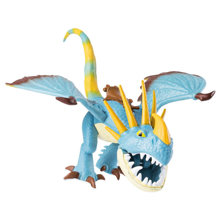 How To Train Your Dragon, Stormfly and Astrid, Dragon with Armored Viking Figure