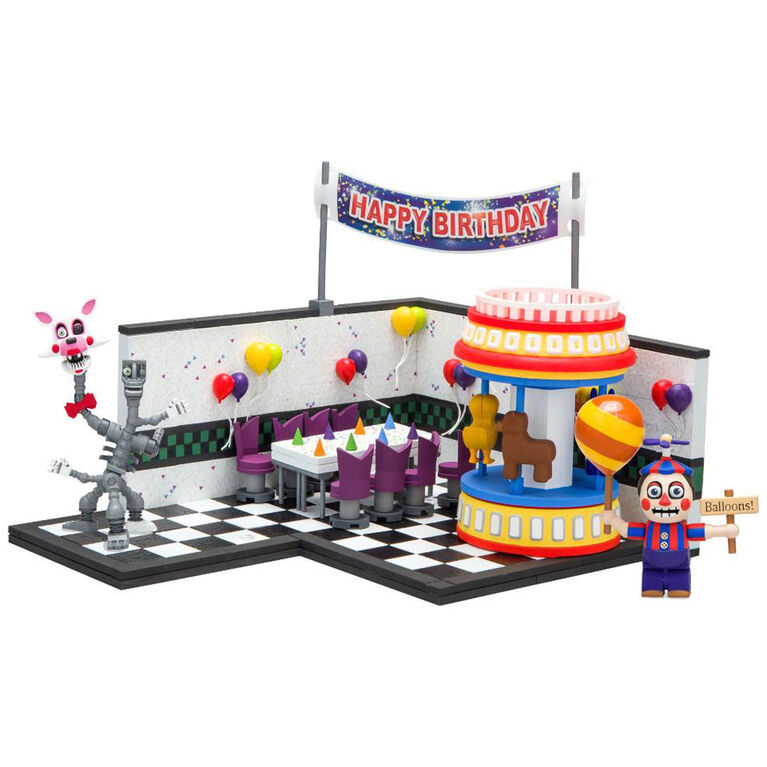 Five Nights at Freddy's Game Area with Balloon Boy and Mangle Construction Set