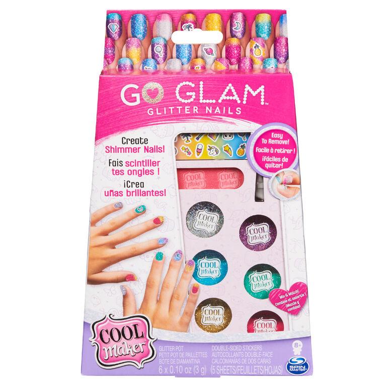 Cool Maker, GO GLAM, Kit créatif Ongles à paillettes pour 5 manucures