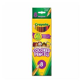 Crayons de couleur multiculturels Crayola, 8 unités - Édition anglaise