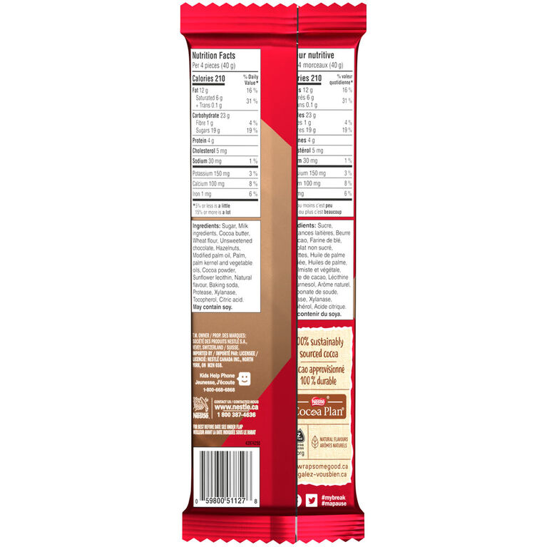 Kit Kat Hazelnut Crunch Tablet 120G