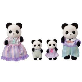 Calico Critters Pookie Panda Family, lot de 4 figurines de poupées à collectionner