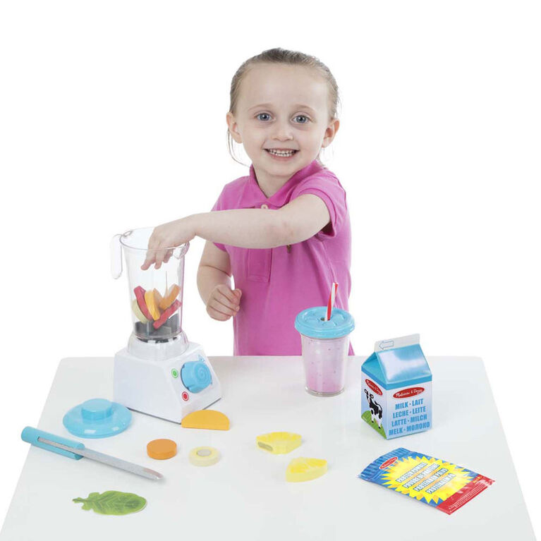 Melissa & Doug Smoothie Maker Mélangeur Set avec Play Food - 24 pièces