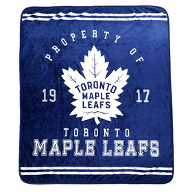 Nemcor - NHL Toronto Maple Leafs Luxury Velour Blanket