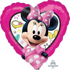 """Miniie Mouse Heart 18"""" Foil Balloon"""