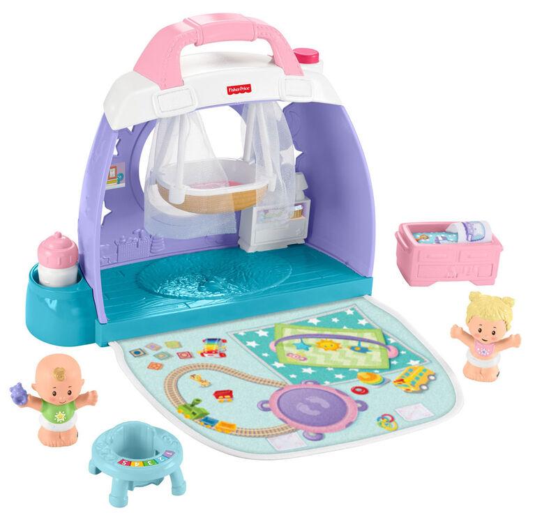Fisher-Price - Little People - Bébés - Chambre de bébé Câlins et jeux