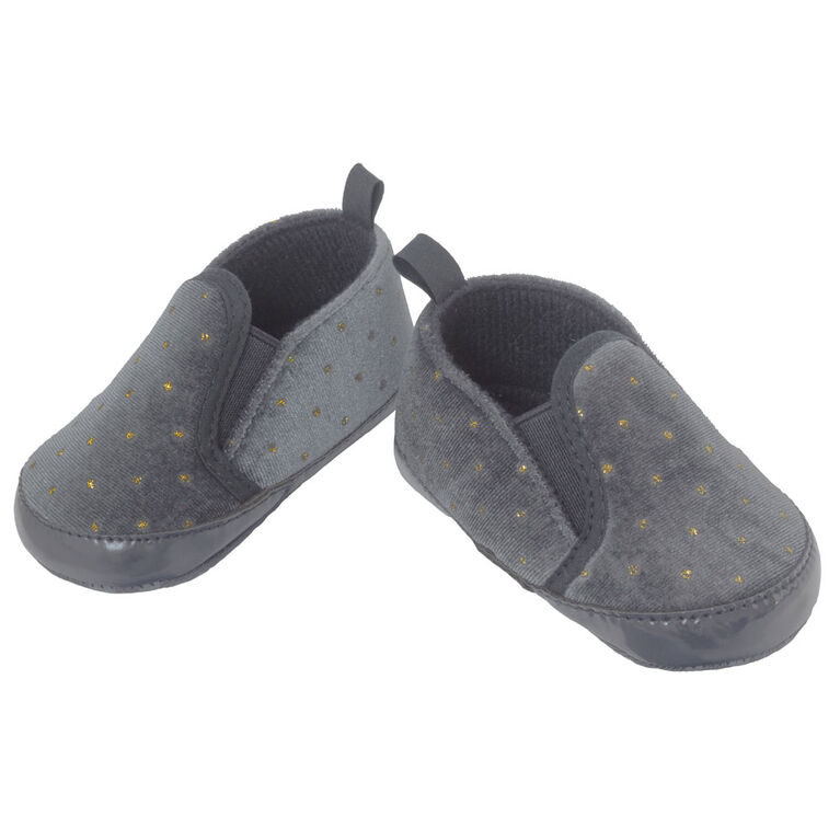 So Dorable Pre Walker - G Slip On Navy/Gold Dots   9-12M