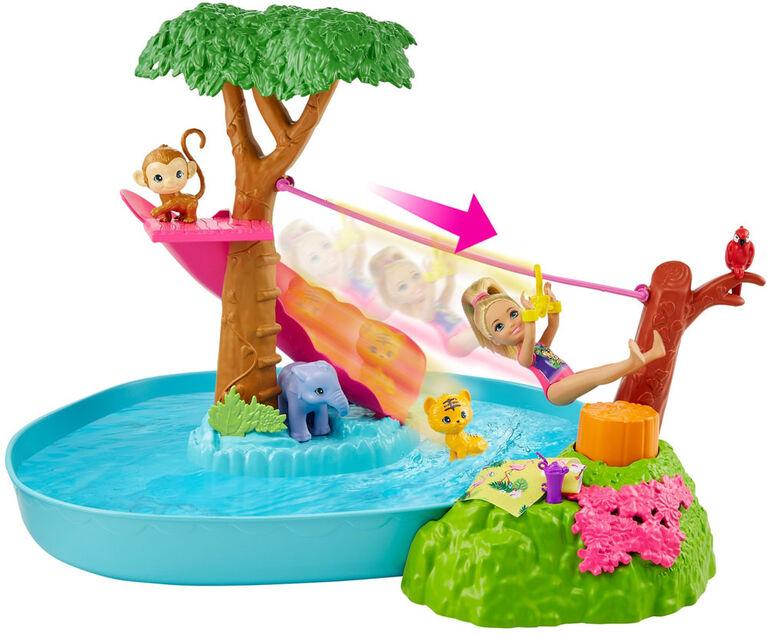 Barbie and Chelsea The Lost Birthday Doll & Splashtastic Pool Surprise Playset