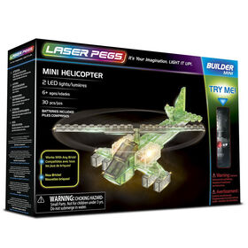 Laser Pegs Mini Helicopter  Building Set