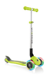 Primo Foldable Light-Up Scooter - Lime Green