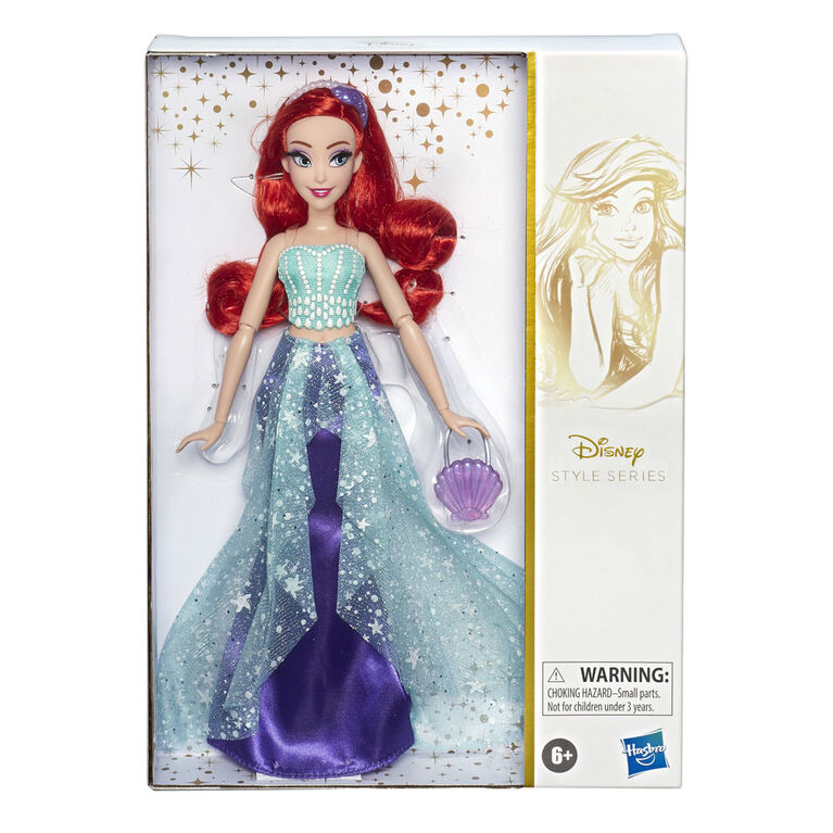Disney Princess Style Series, Ariel Doll in Contemporary Style with Purse and Shoes