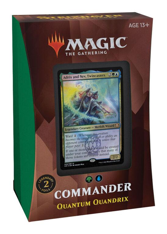 """Deck Commander – Quandrix quantique """"Strixhaven: l'Académie des Mages"""" de Magic Le Rassemblement - Édition anglaise"""