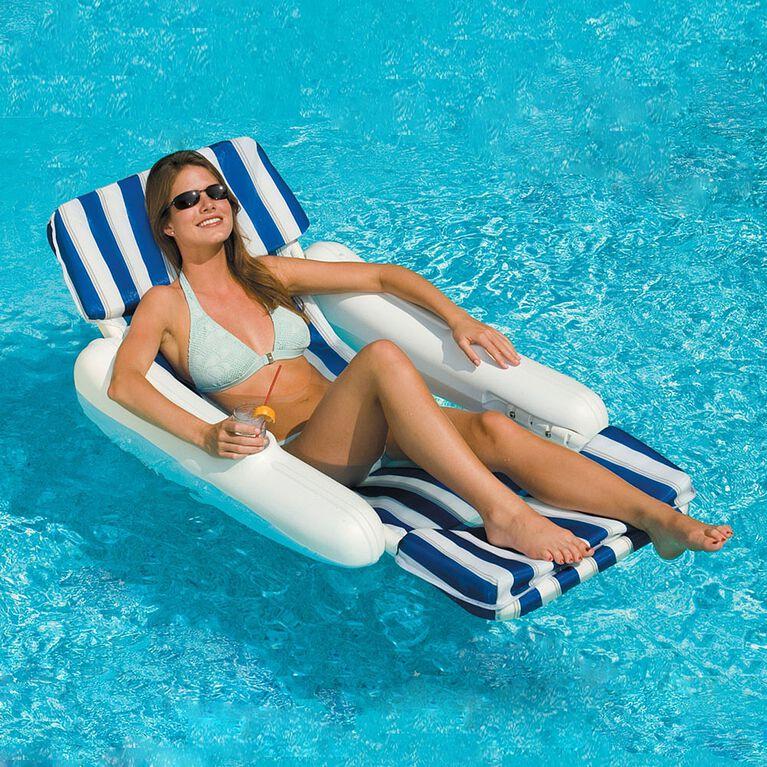 Blue Wave - Chaise longue flottante rembourrée SunChaser