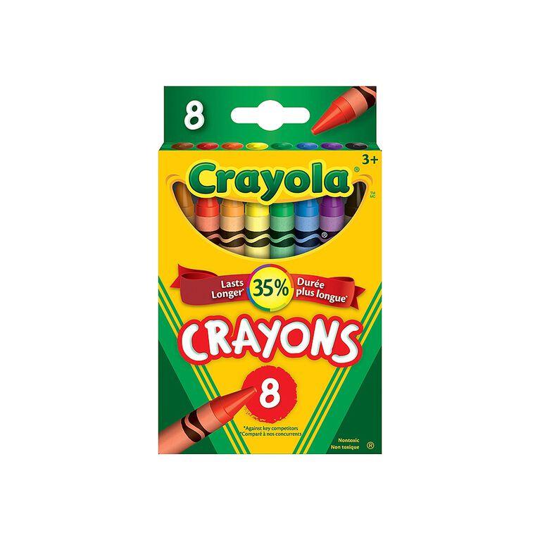 Crayola - Crayons de couleur - 8 ct