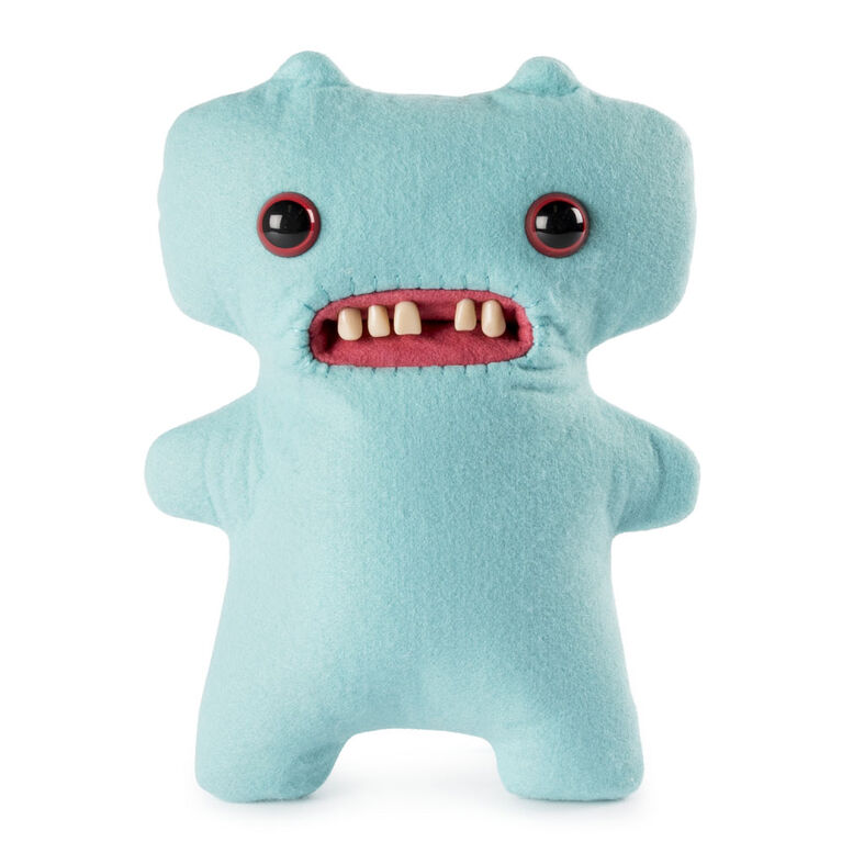 """Fuggler - Funny Ugly Monster, 9"""" Gap-Tooth McGoo (Light Blue) Plush Creature with Teeth"""